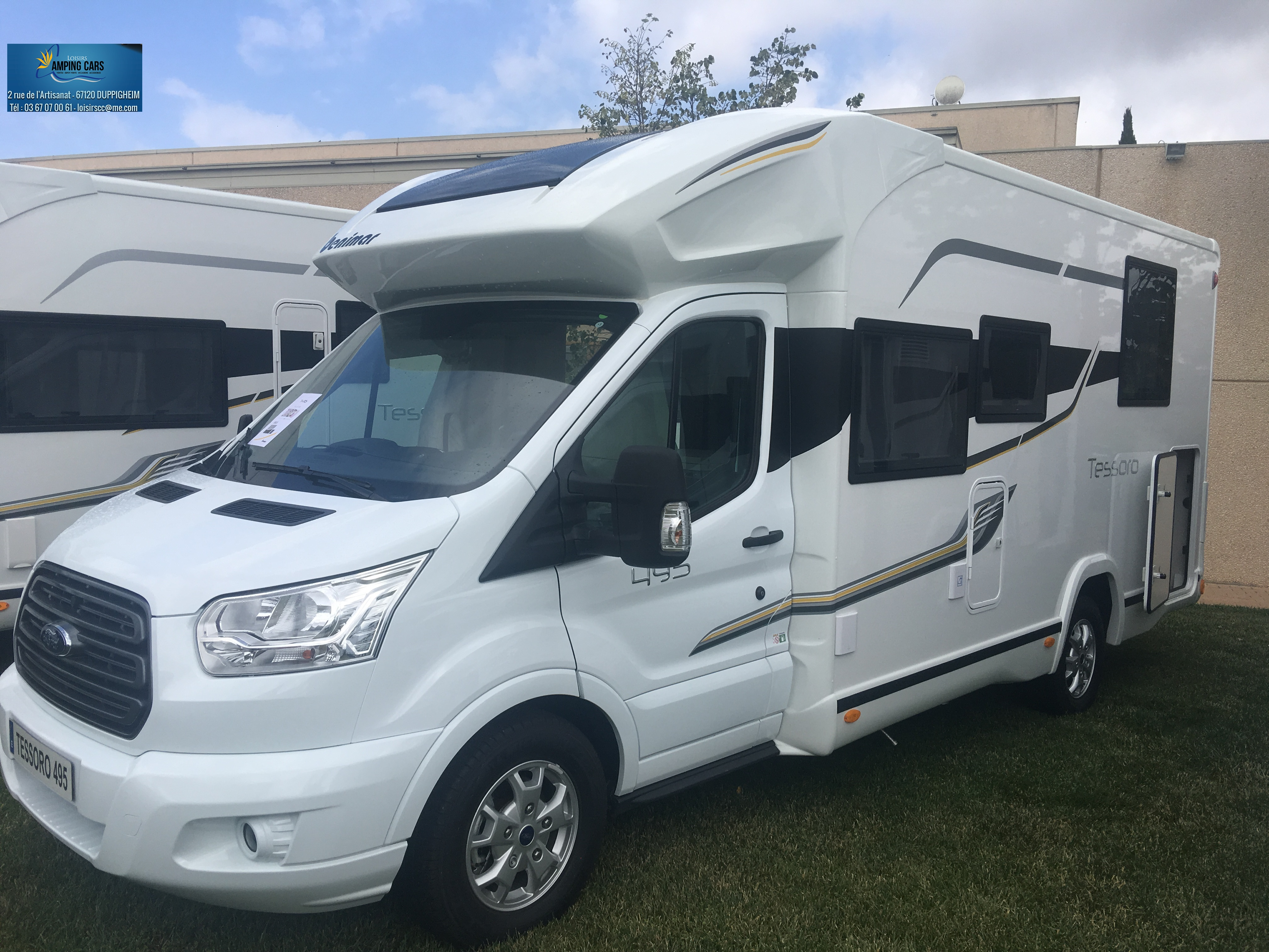 benimar tessoro 495 neuf porteur ford ford transit 2 0l 170cv camping car vendre en rhin. Black Bedroom Furniture Sets. Home Design Ideas