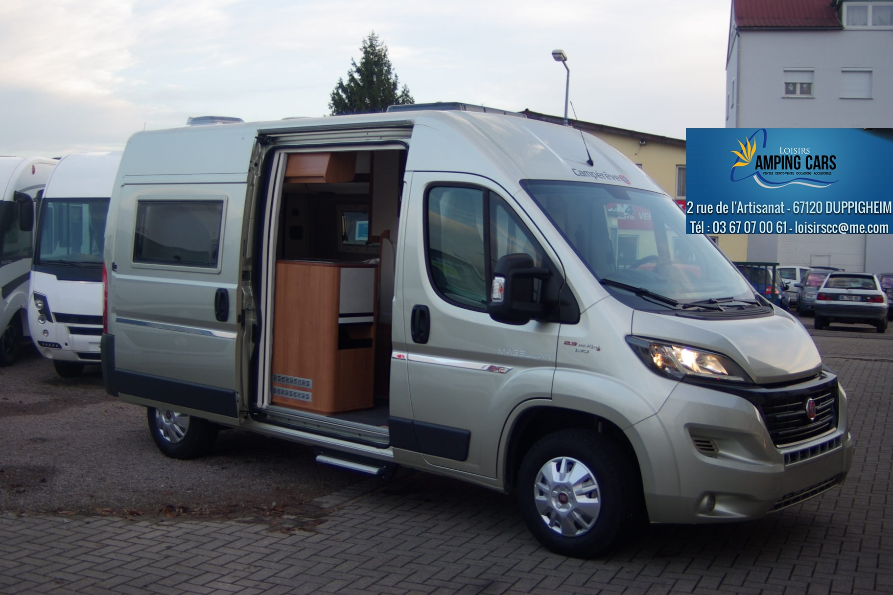 campereve magellan 542 neuf porteur fiat ducato 130cv camping car vendre en rhin 67. Black Bedroom Furniture Sets. Home Design Ideas