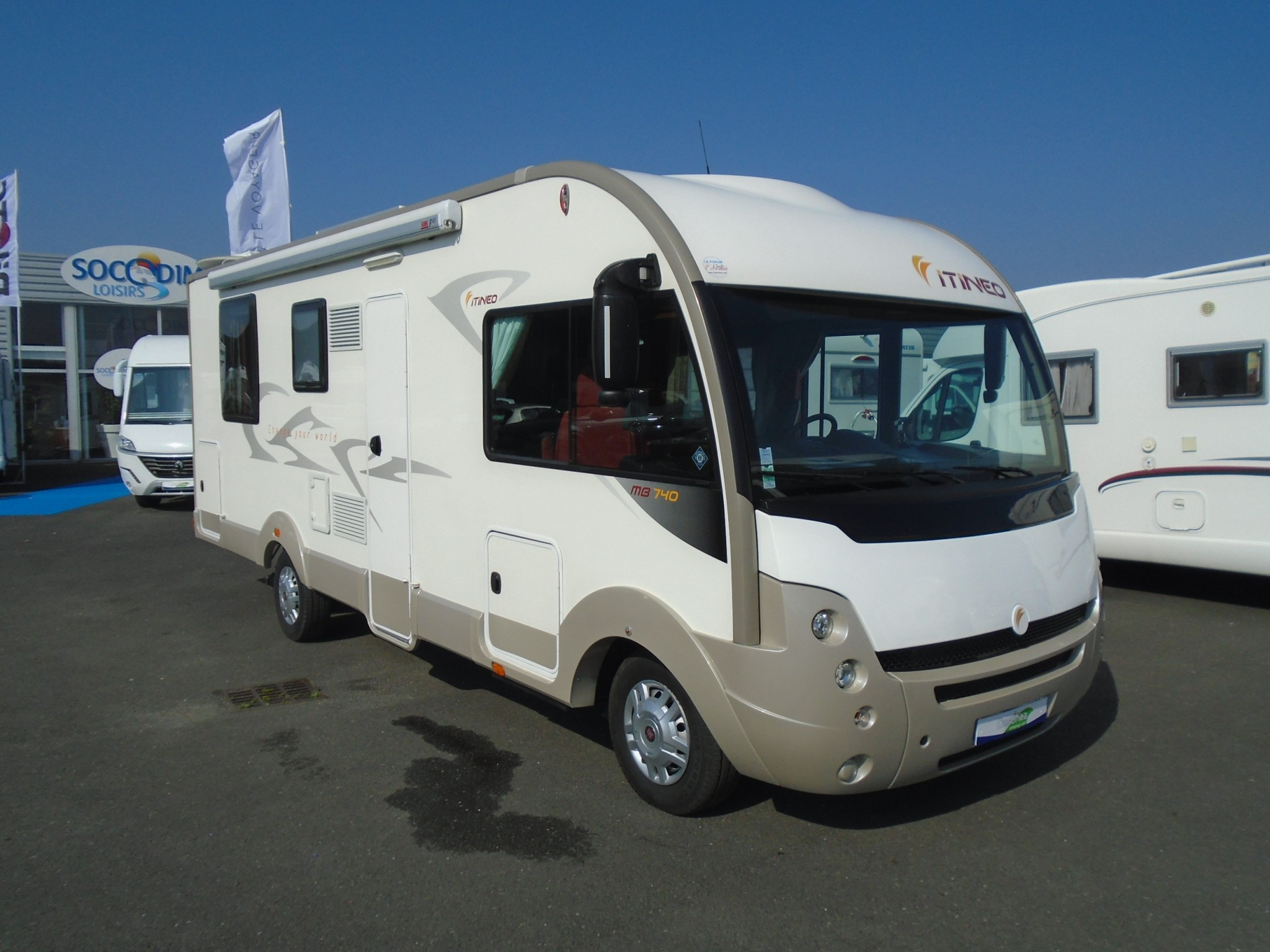 itineo mb 740 occasion  porteur fiat 2 3l 130 cv