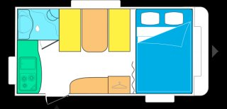 achat caravane / mobil home Caravelair 400 Luxe TERRY LOISIRS
