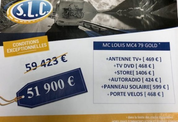 achat  Mc Louis MC 4 79g Diamond Edition SLC 85 - LE MONDE DU CAMPING-CAR